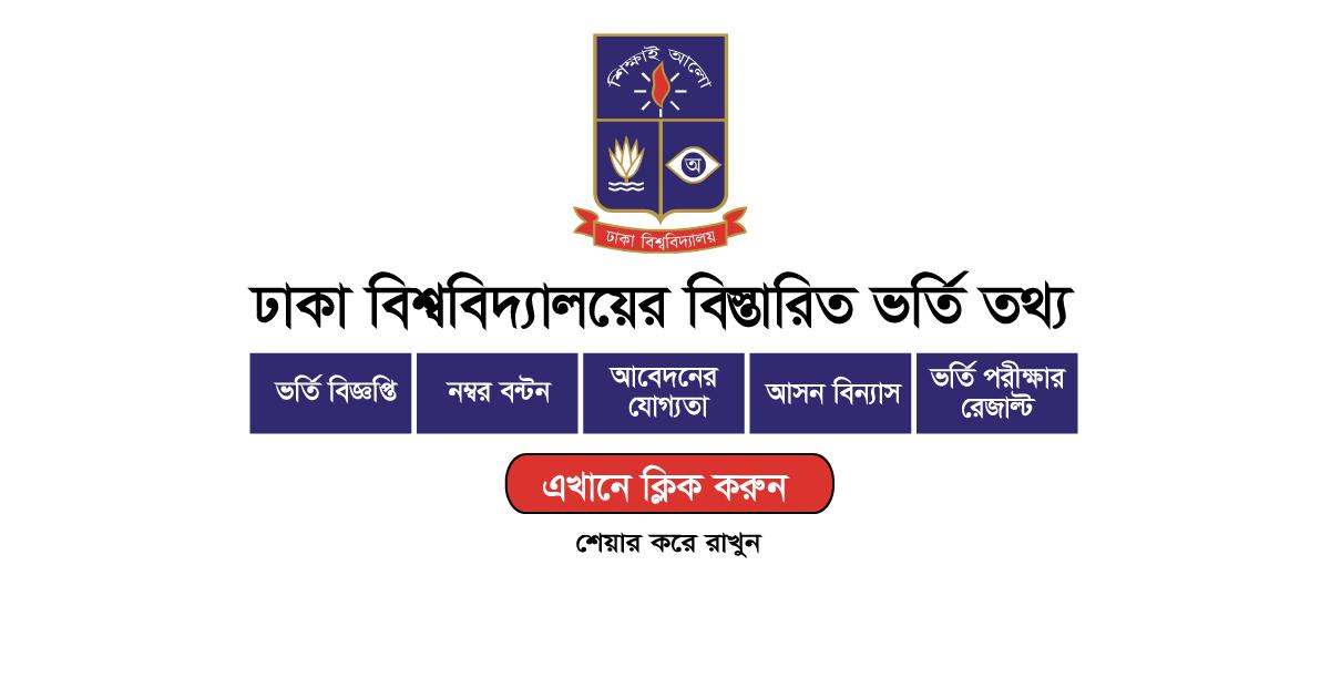 Dhaka University Admission Circular 2020-2021 1