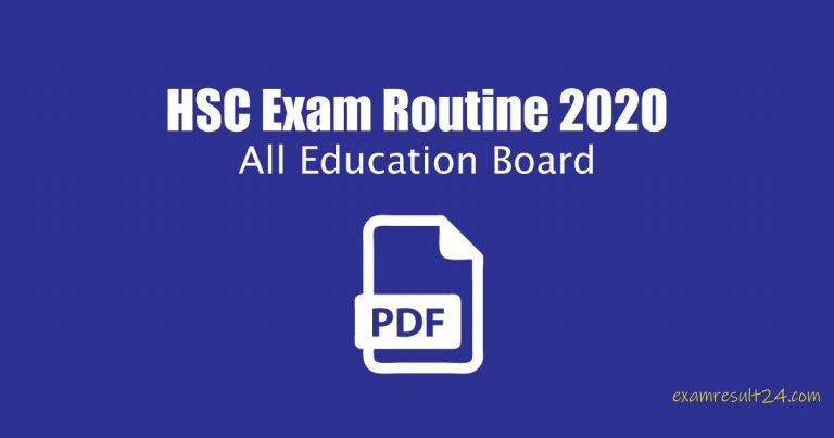 New HSC Exam Routine 2020 [Download]