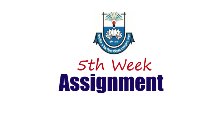 5th Week Assignment Published