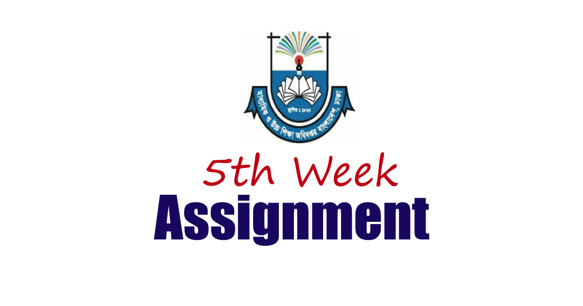 DSHE 5th week Assignment